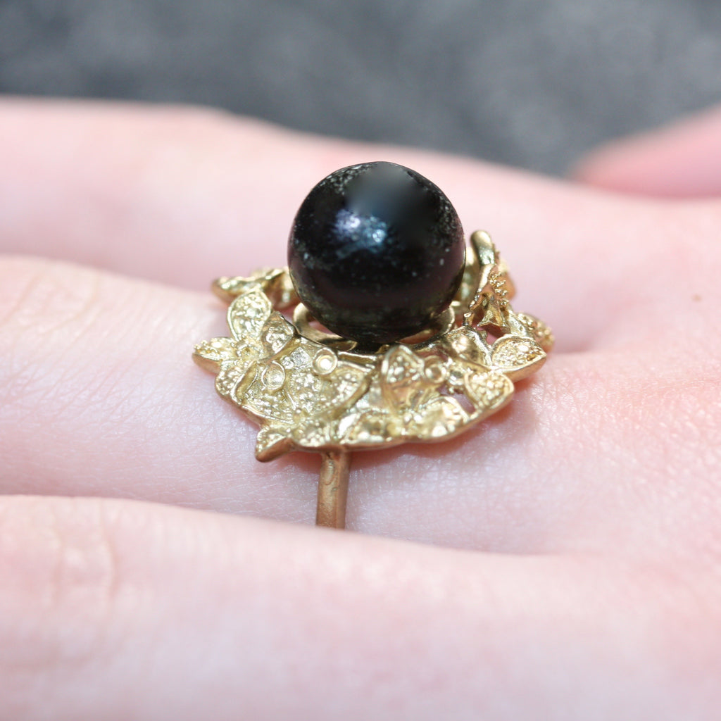9ct gold Bronze my black moon  RIng- SALE