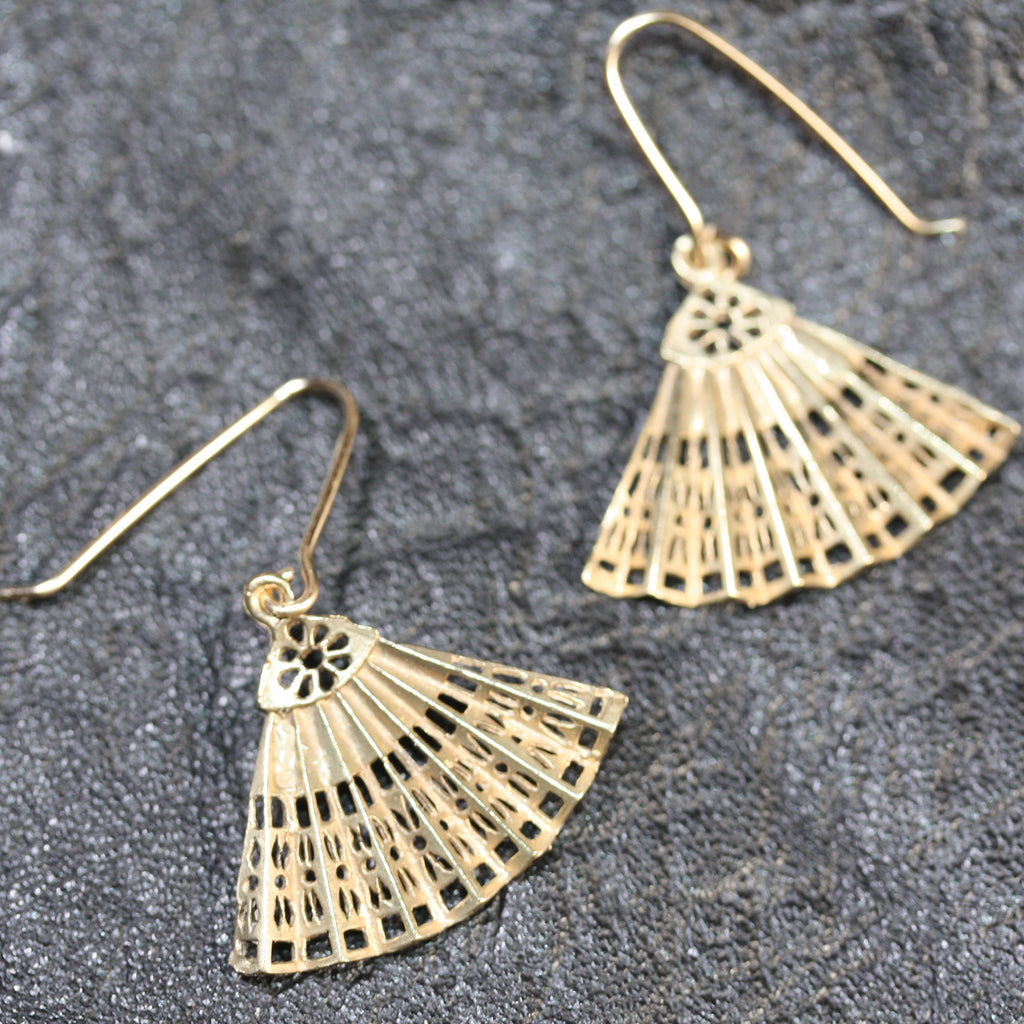 My Big Fan Earrings- SALE