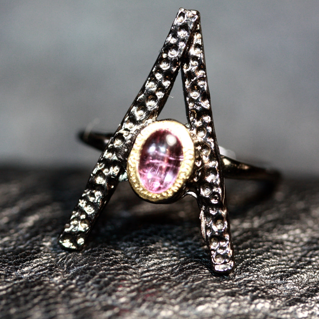 1 A Stick tourmaline  Ring -  SALE