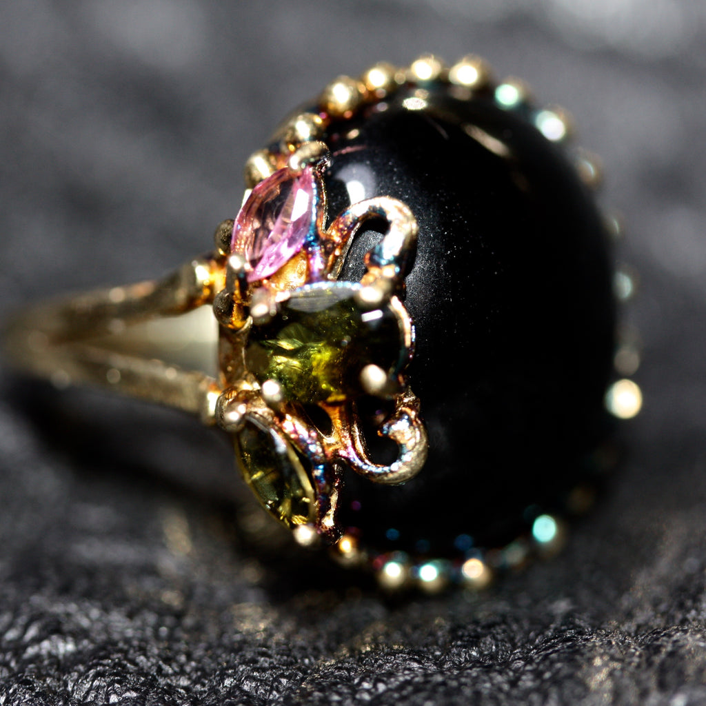 1 A A Big Dark Nest cluster Ring - SALE