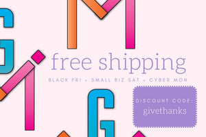 Black Friday, Small Biz, Cyber Monday - Free Shipping