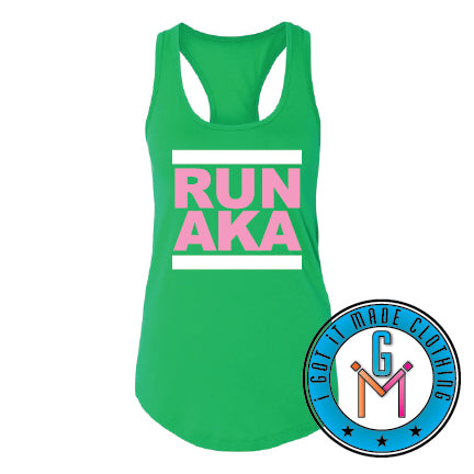 RUN with ME Ladies Racerback Tank