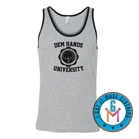 #BlackWithNoChaser Dem Hands University - Triblend Tank