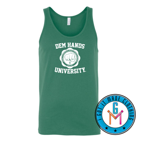 #BlackWithNoChaser Dem Hands University - Tank