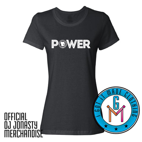 DJ Jonasty #Power Ladies Fit T-shirt