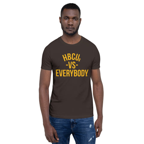 HBCUs vs Everybody Short-Sleeve T-Shirt (Brown and Gold Edition)