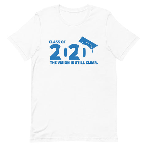 Class of 2020 Graduation Short-Sleeve Unisex T-Shirt (blue)