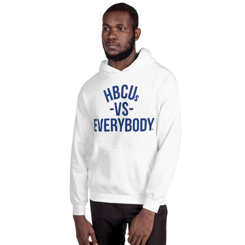HBCUs vs Everybody Hoodie (Blue and White Edition)