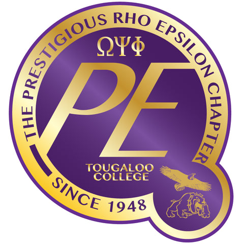 Prestigious Rho Epsilon PE Decal