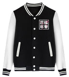 Bloom Floral Unisex Baseball Jacket KPOP BTS Fans BF207 Black