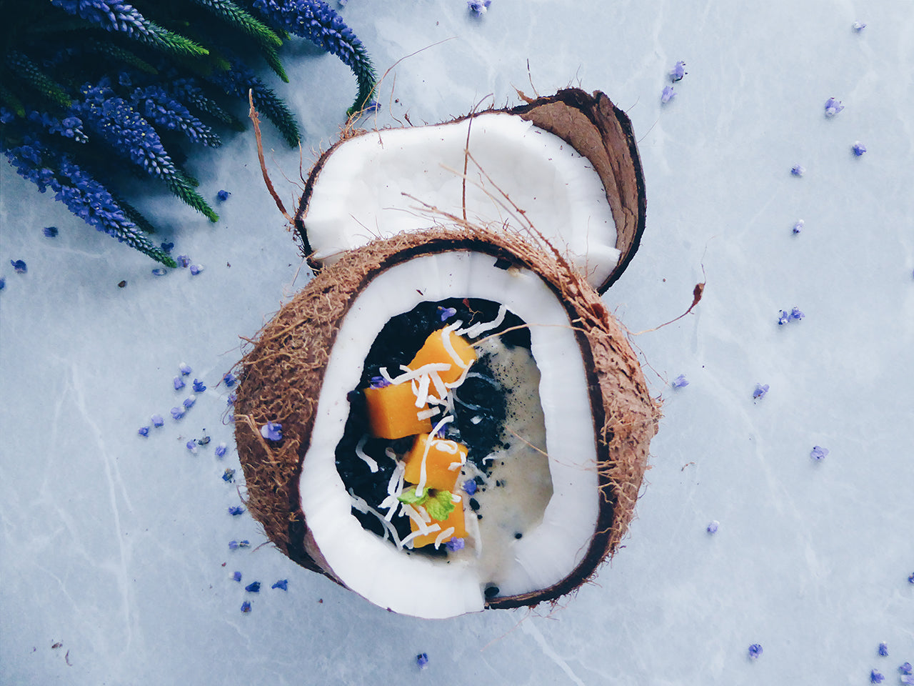Black Rice with Pandan-Infused Coconut Milk and comme.co Sprinkle by Mandy Banh