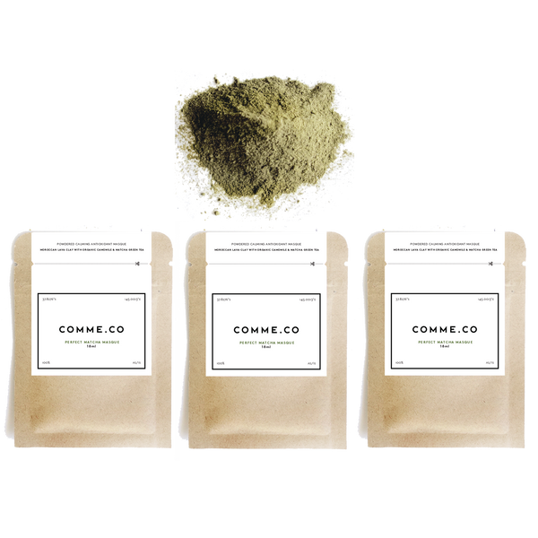 Perfect Matcha Masque - Matcha, Camomile & Moroccan Lava Clay, 18ml x3