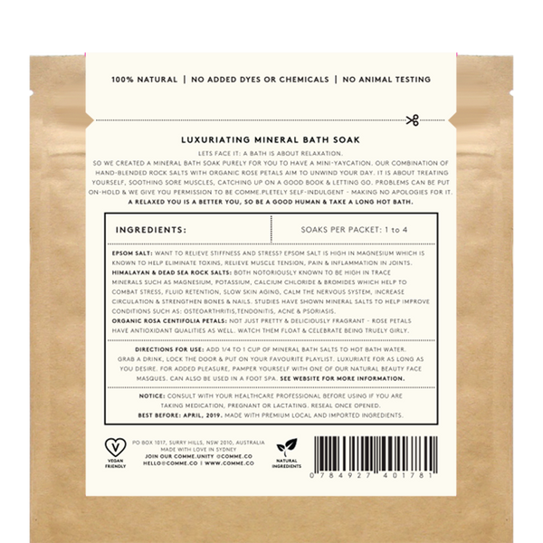Luxuriating Mineral Bath Soak, 280g