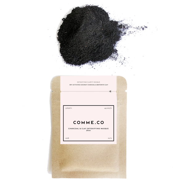 Detoxifying Clarity Face Masque: Activated Coconut Charcoal & Bentonite Clay, 18ml