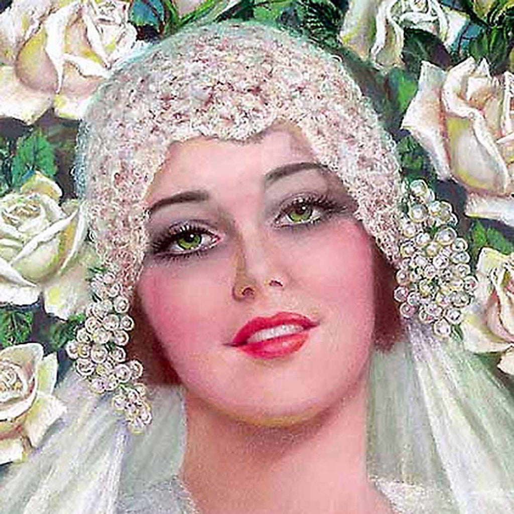 Illustration of a bride from the 1920s
