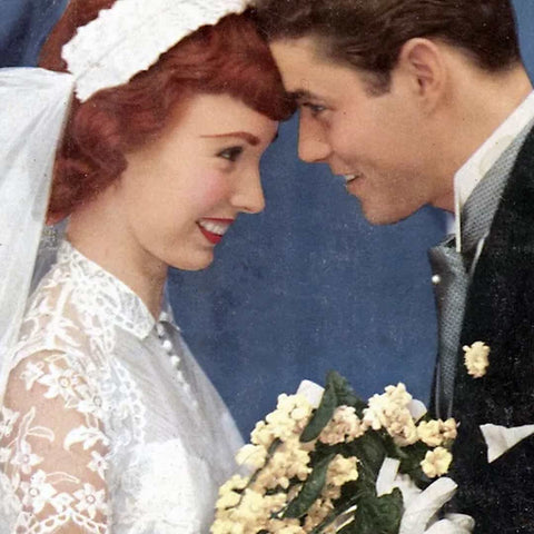 image of 1960s bride and groom