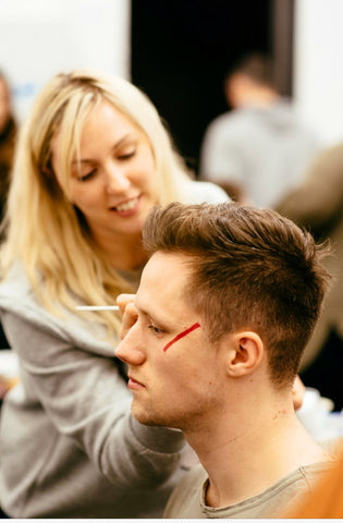 Academy of Makeup Graduate Applying Makeup Backstage by Carlo Paloni