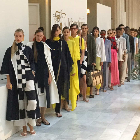 A Line of Models at London Fashion Week