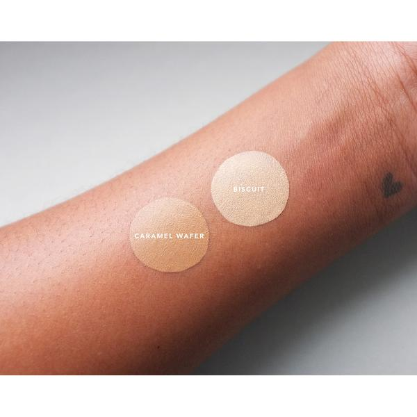 A wrist with two swatches of Little Pop Concealer