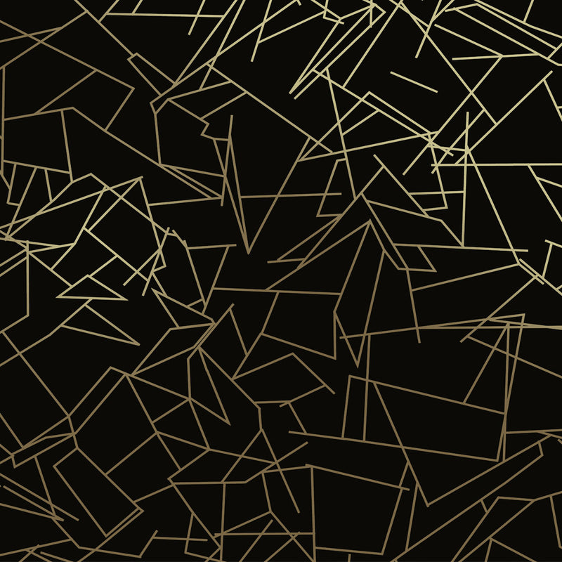 Angles gold / black wallpaper