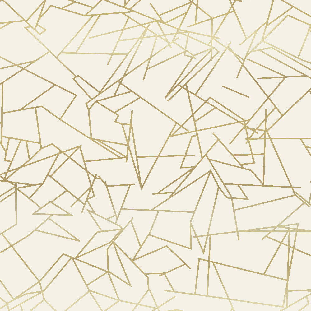 Angles cream/ gold wallpaper
