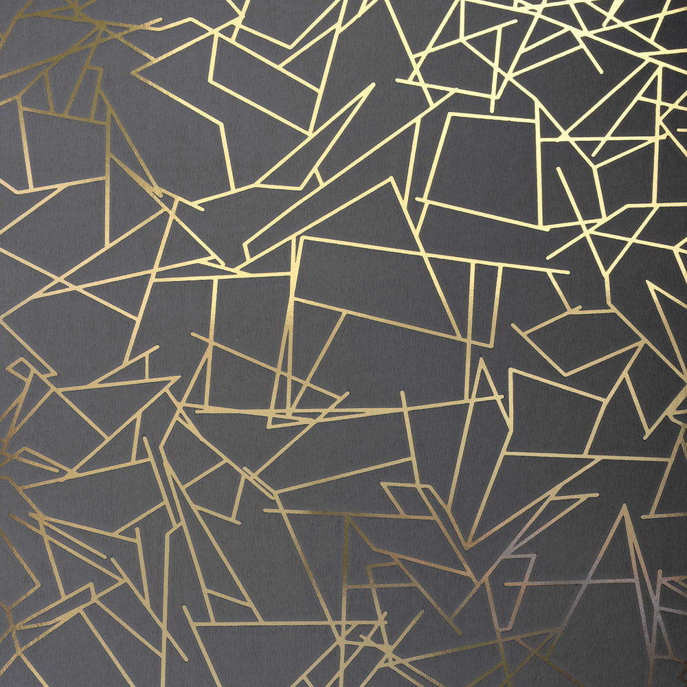 Angles gold / lead grey wallpaper