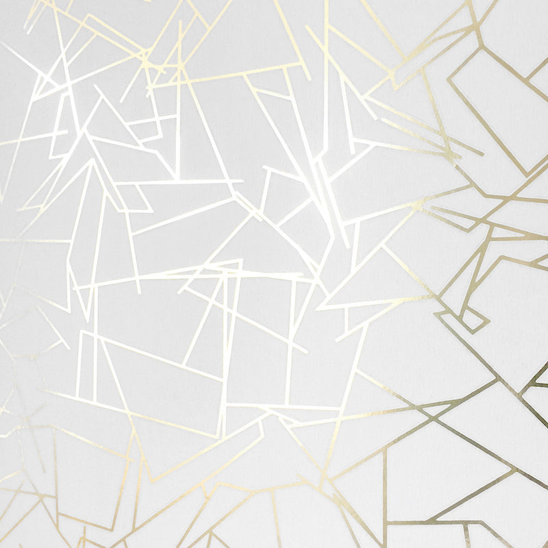 Angles gold / white wallpaper