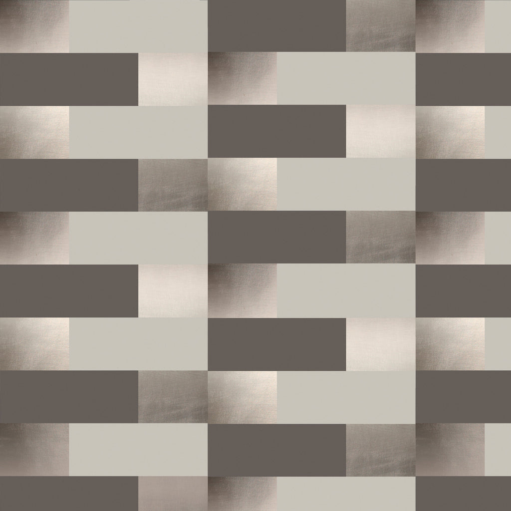 Block bronze pewter limestone wallpaper by Erica Wakerly