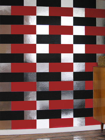 BLOCK silver red black