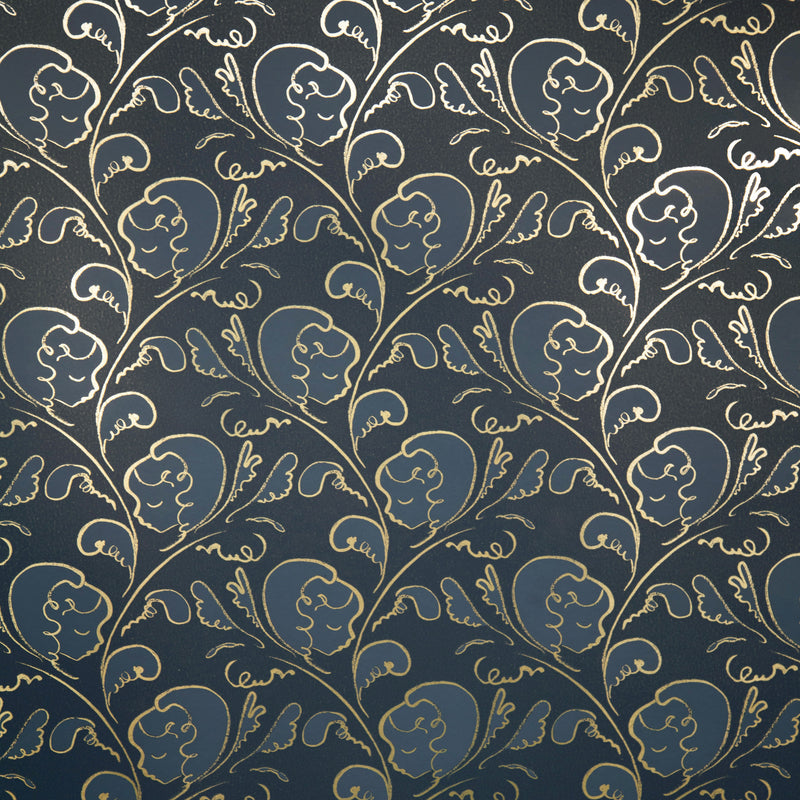 DREAM gold / midnight blue wallpaper by Polly Dunbar Decoration