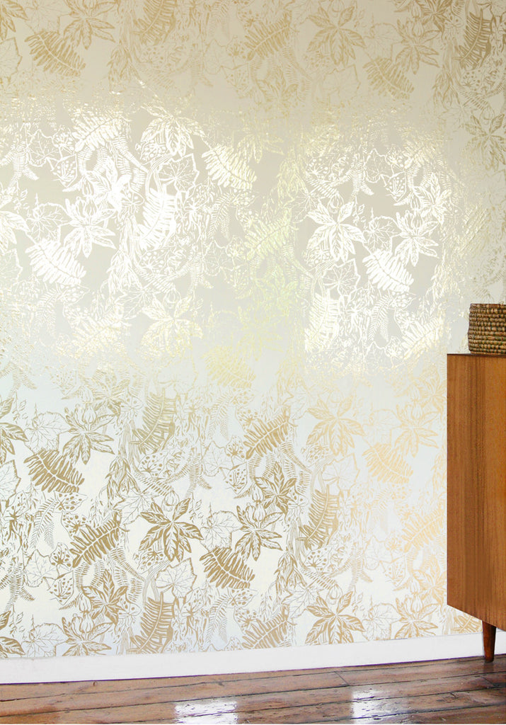 HOTHOUSE gold cream wallpaper
