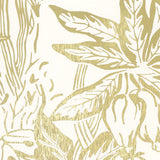 HOTHOUSE gold cream wallpaper sample