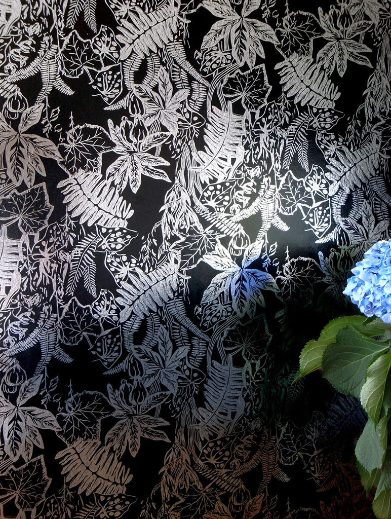 HOTHOUSE black silver wallpaper