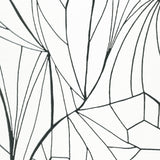 LEAF silver white wallpaper sample