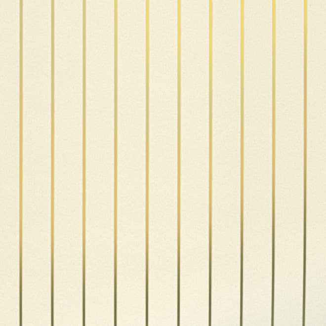 PINSTRIPE gold cream wallpaper by Erica Wakerly sample