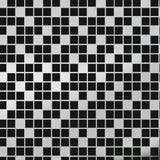 TILES black silver wallpaper sample by Erica Wakerly