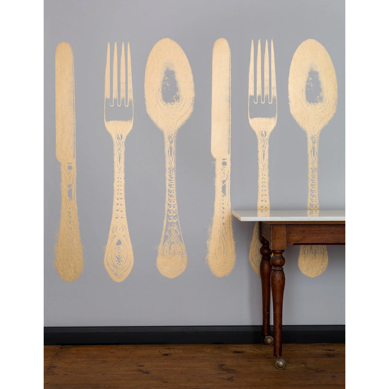 Cutlery grey gold