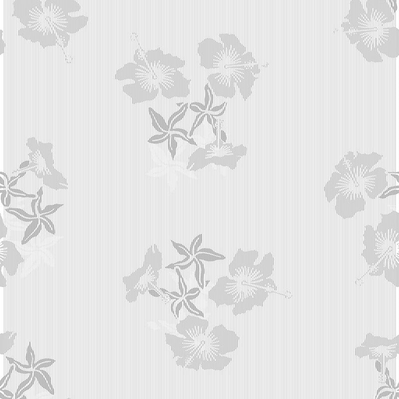 Hibiscus grey white wallpaper