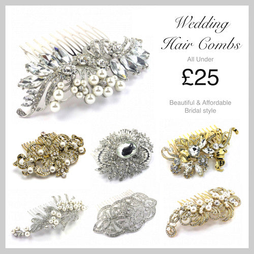 Beautiful & Affordable Bridal Hair Combs