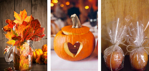 Autumn Wedding Centrepieces and Favors