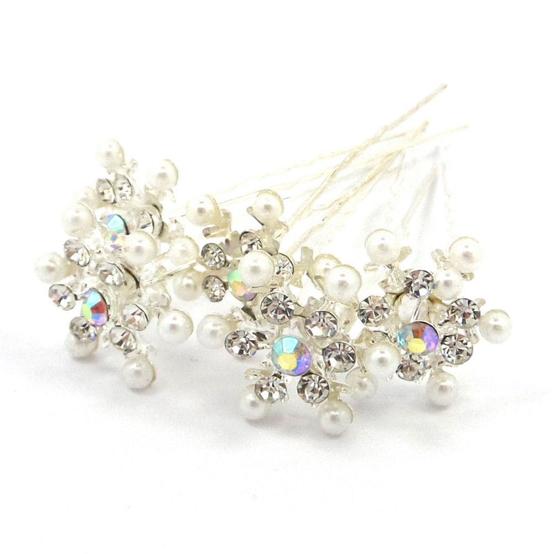 Snowflake Hair Pins-Hair Accessories Bride Boutique