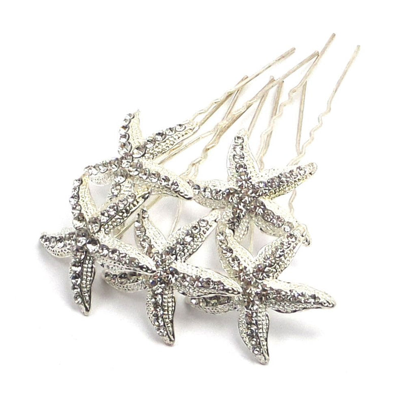 Starfish Hair Pins-Hair Accessories-Bride Boutique