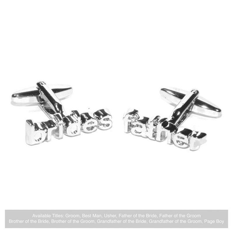 Word Wedding Cufflinks - Bride's Father-Wedding Cufflinks-Bride Boutique