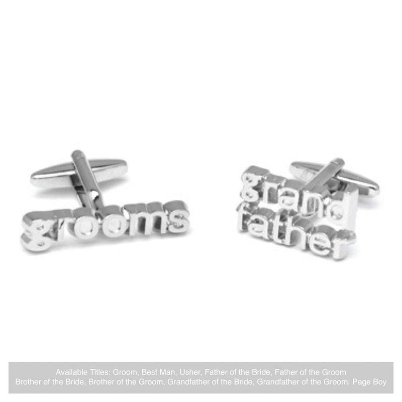 Word Wedding Cufflinks - Groom's Grandfather-Wedding Cufflinks Bride Boutique