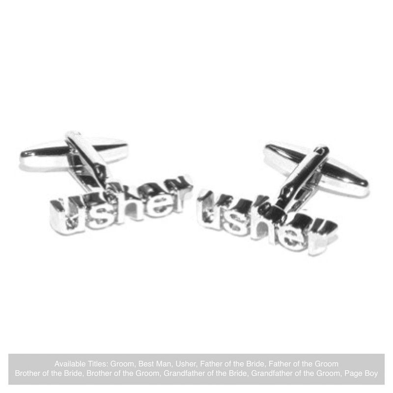 Word Wedding Cufflinks - Usher-Wedding Cufflinks Bride Boutique