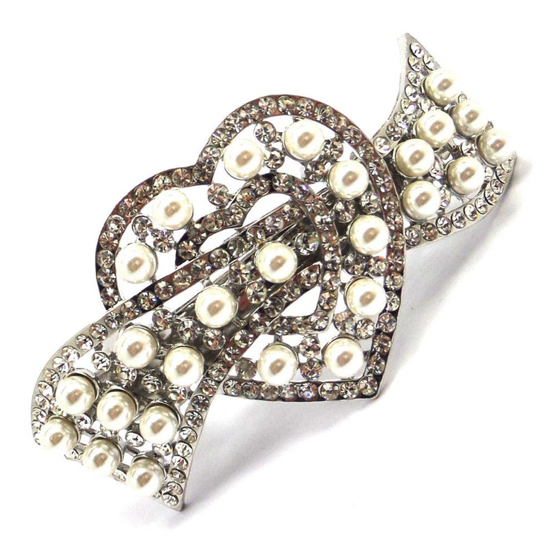 Love Of Pearls Barrette Hair Clip-Hair Accessories-Bride Boutique