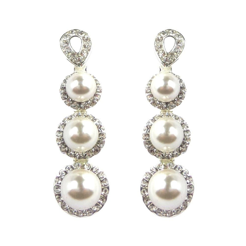Pearl Beauty Earrings-Earrings Bride Boutique