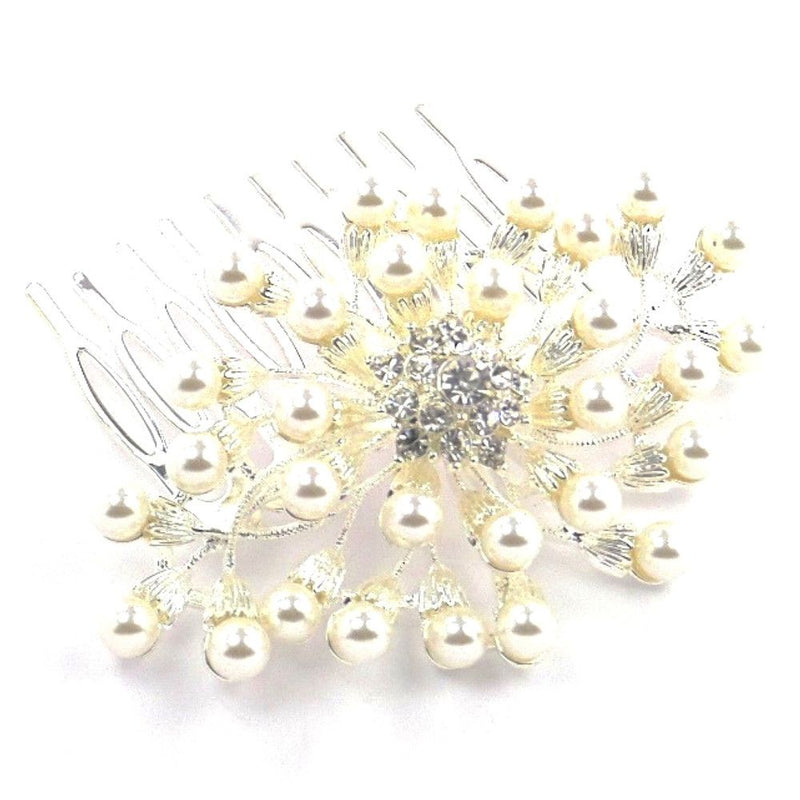 Pearl Starburst Hair Comb-Hair Accessories-Bride Boutique