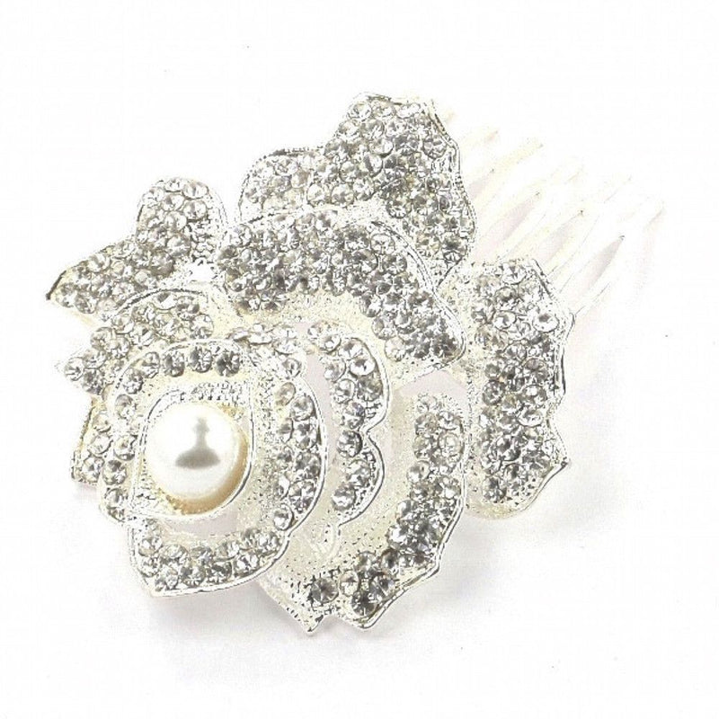 Rose Of Romance Hair Comb-Hair Accessories Bride Boutique