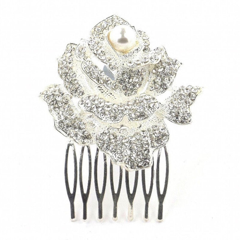 Rose Of Romance Hair Comb-Hair Accessories-Bride Boutique